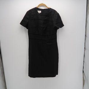 Saks Fifth Avenue Black Short Sleeve Sheath Dress